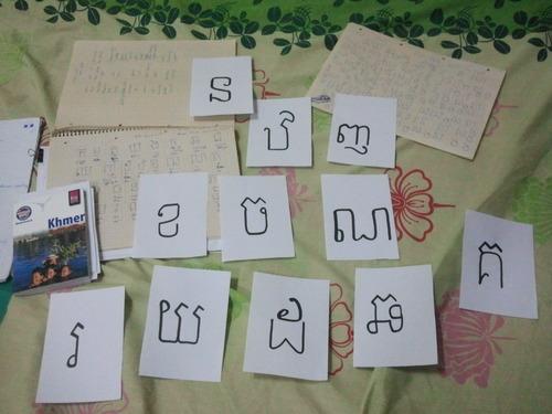 Khmer Buchstaben